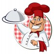 Cook restaurant. Vector illustration isolated on a...