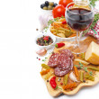 Italian food - cheese, sausage, pasta, spices and ...