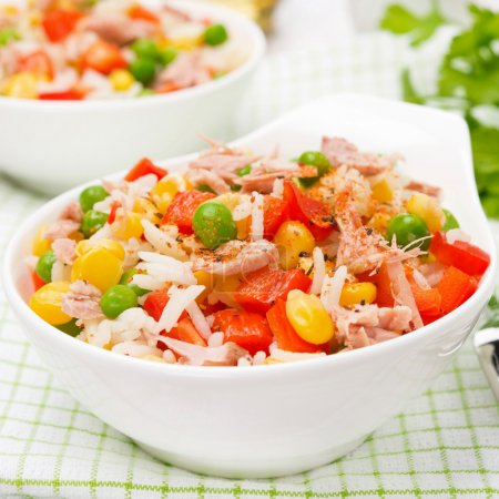 rice with vegetables and canned tuna