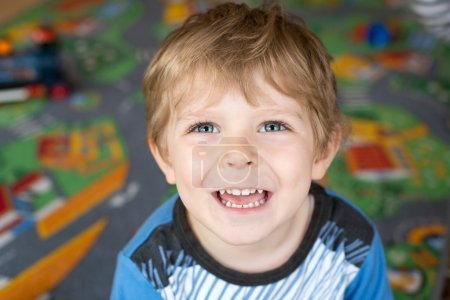 Portrait of little toddler boy of three years