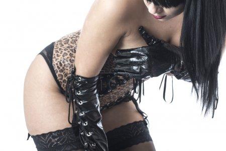 Attractive Fetish Model Posing