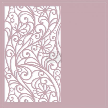 Template frame design for greeting card...