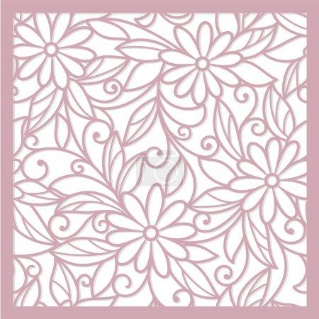 Photo pour Sans soudure fond floral abstrait rose - image libre de droit