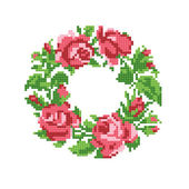 Rame of roses embroider