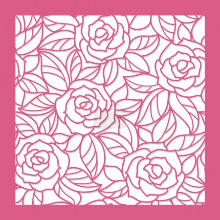 Illustration for Seamless floral background with roses - Royalty Free Image