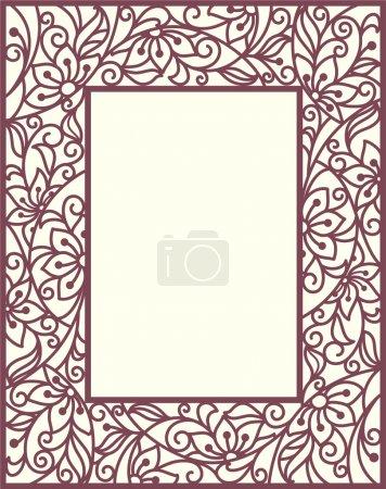 Illustration for Stylization floral frame - Royalty Free Image