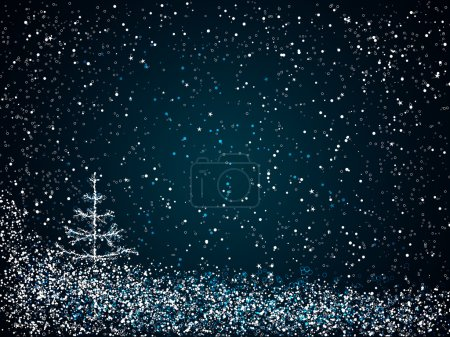 Dark blue christmas background