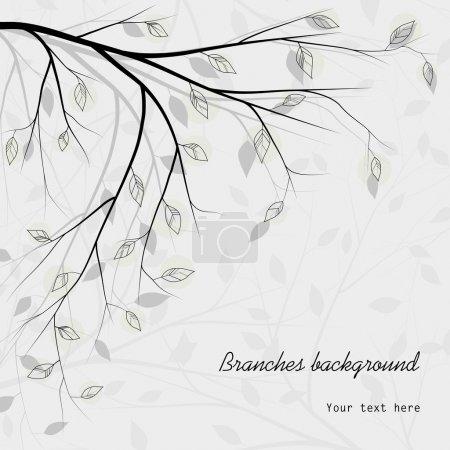 Illustration pour Arbre branches fond - image libre de droit
