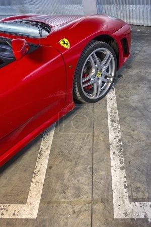 LEON, SPAIN - MARCH 10: A Ferrari F430 spider participating in t