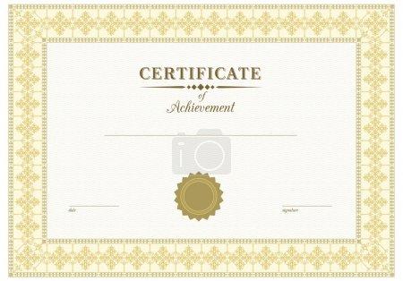 Photo pour Certificat élégant pour les entreprises - image libre de droit