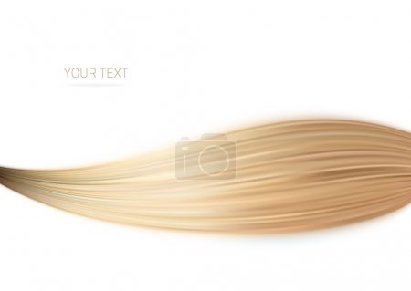 Illustration for Long blond hair as background - Royalty Free Image