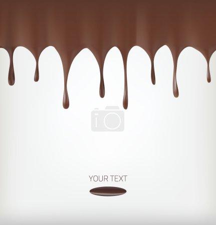 Illustration pour Flux de chocolat isolés. Objet vectoriel - image libre de droit