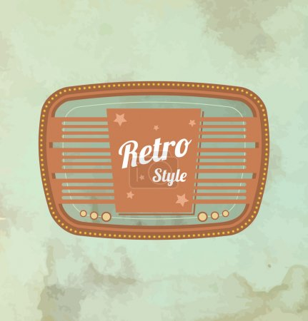 Illustration for Retro motel sign. Vector - Royalty Free Image