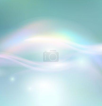 Illustration pour Vecteur soleil sur un fond bleu doux - image libre de droit