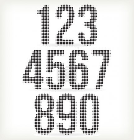 Numbers halftone