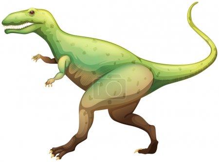 Illustration showing a Giganotosaurus...