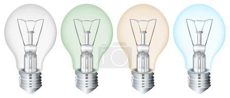 Four flourescent bulbs