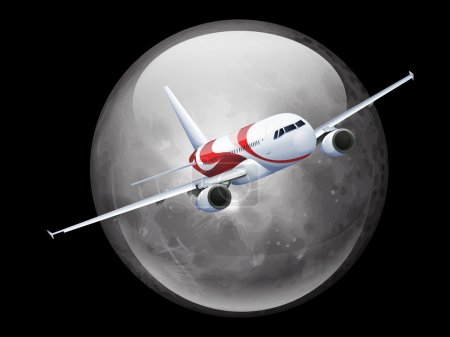 The Moon and Plane