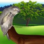 Illustration of a wild bird...