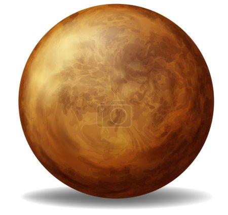 Illustration of Venus on a white background...
