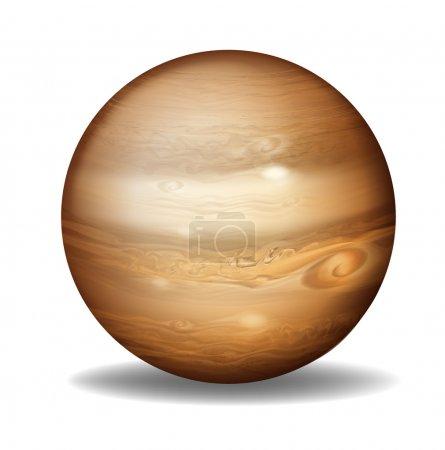 Illustration of planet Jupiter on a white backgrou...