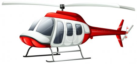 Illustration for Illustration of a helicopter flying on a white background - Royalty Free Image