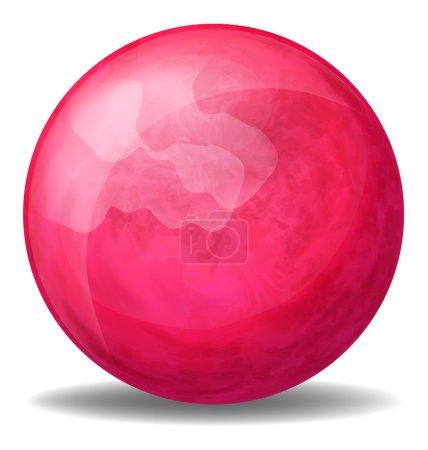 A fuschia pink ball