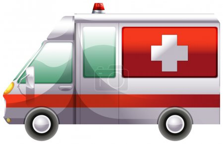 Illustration for Illustration of an ambulance on a white background - Royalty Free Image