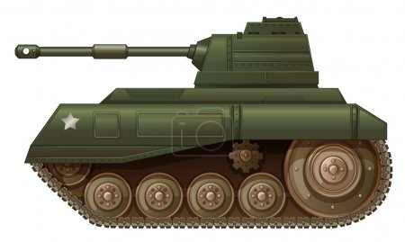 A green military tank