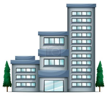 A tall condo building
