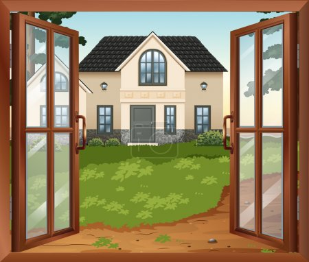 Illustration for Illustration of a window - Royalty Free Image