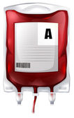 A blood bag with type A blood