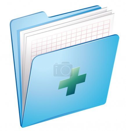 Illustration for Illustration of a medical history on a white background - Royalty Free Image