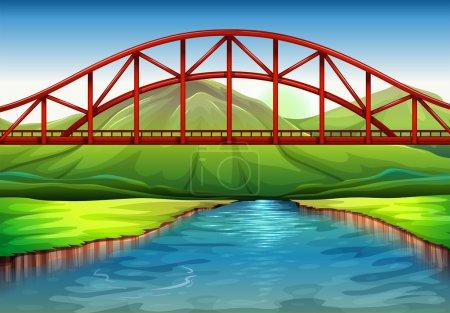 A bridge above the river