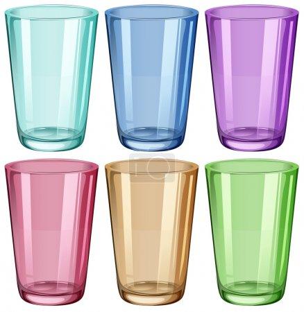 Illustration pour Illustration des verres clairs sur fond blanc - image libre de droit