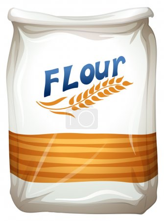 Illustration of a packet of flour on a white backg...