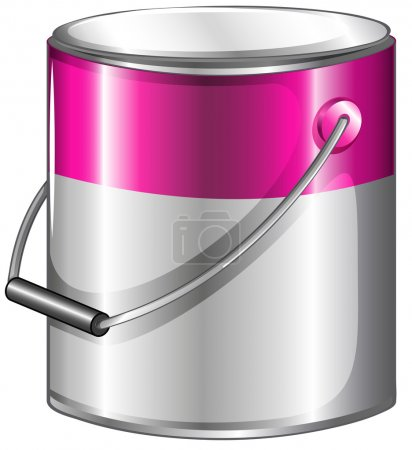 A can of pink paint