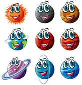 Animated planets