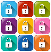 Illustration of the padlock icons on a white background