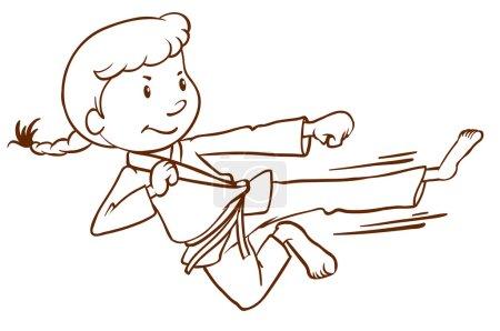 A sketch of a martial arts expert