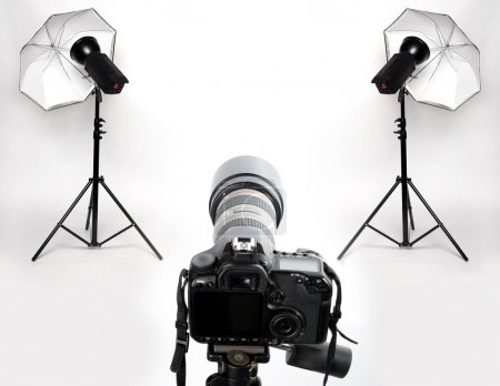 Photo for Digital camera and studio lights. - Royalty Free Image