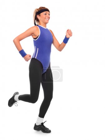 Shot of a exercising young woman.