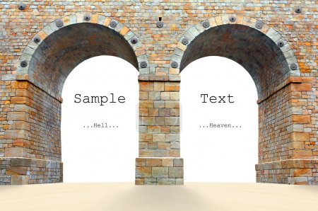 Photo for Marble gates with easy removable text - Royalty Free Image