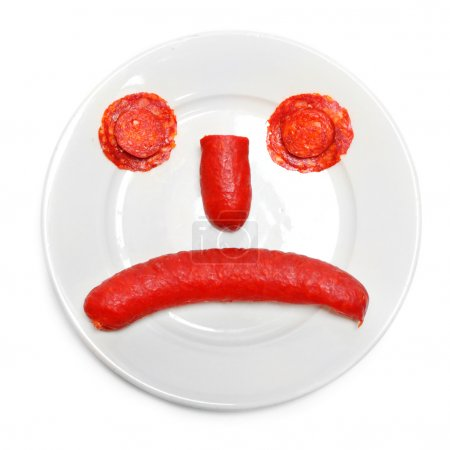 Emoticon from food on plate