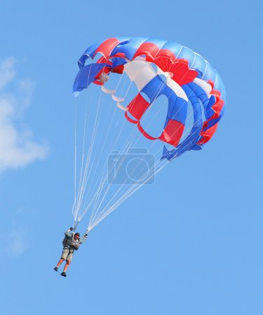 Skydiver flying
