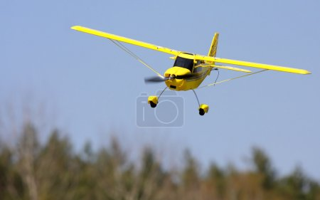 Homemade radio control aircraft with electric motor.