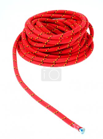 Red climbing rope