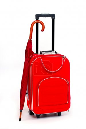 Travel bag and umbrella