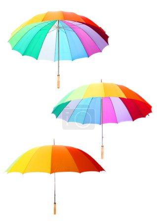 Studio shot of classic color-full umbrella set