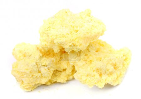 Volcanic sulfur isolated on white background...